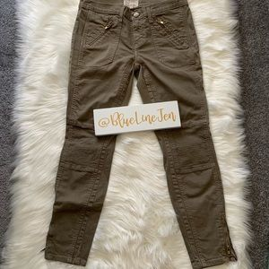 Current/Elliott Moto Stiletto Jeans in Dusty Olive